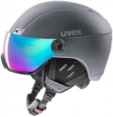 Шлем Uvex 400 Visor StyleШлем с визором из поликарбоната от uvex. Защита конструкция inmould делает шлем одновременно легким и прочным; визор защищает глаза от уф-лучей, ветра и снега.<br>Пол: Мужской; Возраст: Взрослые; Вид спорта: Горные лыжи; Конструкция: In-mould; Вентиляция: Регулируемая; Сертификация: EN 1077 B; Регулировка размера: Есть; Тип регулировки размера: Поворотное кольцо; Материал внешней раковины: Поликарбонат; Материал внутренней раковины: Пенополистирол; Материал подкладки: Полиэстер; Технологии: IAS, Natural Sound; Производитель: Uvex; Артикул производителя: 6215; Срок гарантии: 2 года; Страна производства: Китай; Размер RU: 53-58;