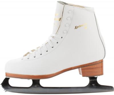 Graf Splendid M-I (взрослые)Классические фигурные коньки от graf.<br>Термоформируемый ботинок: Да; Материал ботинка: Натуральная кожа; Материал подкладки: Синтетическая замша Clarino; Материал лезвия: Высокоуглеродистая сталь; Анатомический ботинок: Да; Широкая колодка: Да; Тип фиксации: Шнурки; Усиленный ботинок: Да; Поддержка голеностопа: Есть; Морозоустойчивый стакан: Нет; Защитное напыление лезвия: Да; Усиленный язык: Да; Анатомические вкладыши: Да; Материал подошвы: Натуральная кожа; Заводская заточка: Нет; Утепленный ботинок: Нет; Пол: Женский; Возраст: Взрослые; Вид спорта: Фигурное катание; Технологии: Clarino, MIV, Professional Outfit, Rubber Lam, Termolam, Waterproof coating boots; Производитель: Graf; Артикул производителя: GR/SPL; Срок гарантии: 4 года; Страна производства: Китай; Размер RU: 36;