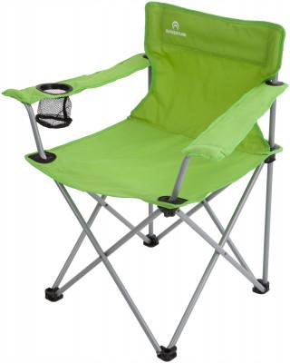 Кресло OutventureУдобное и легкое складное кресло с подлокотниками. Функциональность в одном из подлокотников имеется встроенный подстаканник.<br>Максимальная нагрузка, кг: 100 кг; Размер в рабочем состоянии (дл. х шир. х выс), см: 53 х 45 х 45; Размер в сложенном виде (дл. х шир. х выс), см: 16 х 16 х 85; Материал каркаса: Сталь; Материал сидушки: Полиэстер; Вес, кг: 2,7; Вид спорта: Кемпинг; Производитель: Outventure; Артикул производителя: IE407G2; Срок гарантии: 2 года; Страна производства: Россия; Размер RU: Без размера;