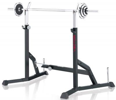 Стойки для штанги Kettler VectorУстойчивая и прочная стойка позволяет выполнять комплекс силовых упражнений со штангой до 150 кг. Внимание: штанга в комплект не входит.<br>Тренируемые группы мышц: Спина, грудь, руки, плечи, ноги; Максимальная нагрузка, кг: 150; Максимальный вес пользователя: 150 кг; Регулировки: Регулировка стоек по высоте, настройка рамы по ширине; Размер в рабочем состоянии (дл. х шир. х выс), см: 105 х 110 х 170; Размер в сложенном виде (дл. х шир. х выс), см: 105 х 110 х 106; Вес, кг: 24,5; Вид спорта: Силовые тренировки; Производитель: Kettler; Артикул производителя: 7708-100; Срок гарантии: 2 года; Страна производства: Германия; Размер RU: Без размера;
