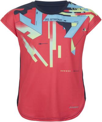 Футболка для девочек Demix, размер 140Футболки и майки<br>Удобная и яркая футболка demix, выполненная из влагоотводящей ткани, подойдет для бега. Отведение влаги благодаря технологии movi-tex, ткань отлично отводит влагу от тела.