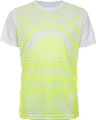 Футболка для мальчиков Wilson Team Striped Crew, размер 122Одежда для мальчиков<br>Удобная влагоотводящая футболка для мальчиков от wilson - отличный выбор для игры в теннис. Свобода движений прямой крой позволяет двигаться свободно и естественно.