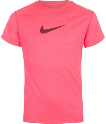 Футболка для девочек Nike LegendКлассическая футболка для девочек nike legend станет удачным выбором для занятий фитнесом.<br>Пол: Женский; Возраст: Дети; Вид спорта: Фитнес; Покрой: Приталенный; Материалы: 100 % полиэстер; Технологии: Nike Dri-FIT; Производитель: Nike; Артикул производителя: 392389-655; Страна производства: Гондурас; Размер RU: 128-140;