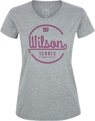 женская футболка wilson, серая