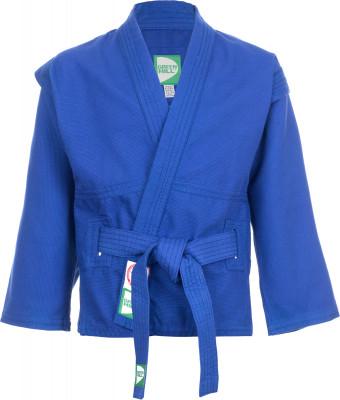 Куртка для самбо Green HillКуртка для борьбы самбо яркой расцветки, специального покроя, без подкладки и с поясом к ней.<br>Пол: Мужской; Возраст: Взрослые; Вид спорта: Самбо; Материалы: 100 % хлопок; Производитель: Green Hill; Артикул производителя: J103692; Страна производства: Таджикистан; Размер RU: 48-50;