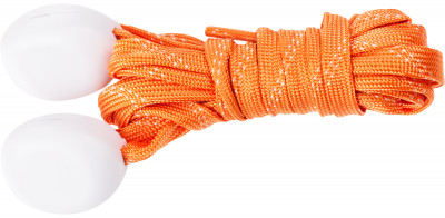 Шнурки светодиодные I-JumpШнурки со встроенными светодиодами разработаны специально для увеличения безопасности при занятии спортом в условиях плохой видимости.<br>Пол: Мужской; Возраст: Взрослые; Вид спорта: Аксессуары; Материалы: 35 % нейлон, 20 % пластик, 18 % полиэтилентерефталат, 10 % провод МГТФ, 10 % светодиоды, 7 % картон; Длина: 120 см; Производитель: I-Jump; Артикул производителя: ND-004-120-OR; Страна производства: Китай; Размер RU: 120;