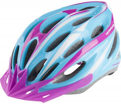 Шлем велосипедный женский CyclotechЖенский велосипедный шлем продвинутого уровня. Изготовлен по современной технологии inmold.<br>Конструкция: In-mould; Регулировка размера: Да; Тип регулировки размера: Поворотное кольцо; Материал внешней раковины: Пластик; Материал внутренней раковины: Вспененный пенополистирол; Материал подкладки: Нейлон; Сертификация: EN 1078; Производитель: Cyclotech; Артикул производителя: CHLI-15W-L; Срок гарантии: 6 месяцев; Страна производства: Китай; Размер RU: 58-62;