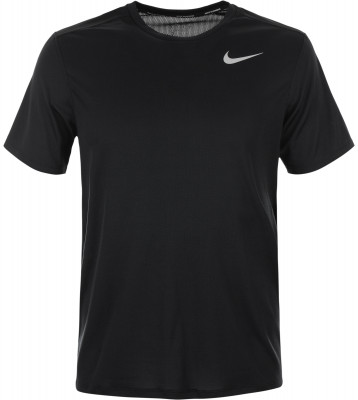 Футболка мужская Nike RunningБеговая футболка от nike, выполненная из технологичного материала, станет оптимальным вариантом для занятий бегом.<br>Пол: Мужской; Возраст: Взрослые; Вид спорта: Бег; Покрой: Прямой; Светоотражающие элементы: Да; Дополнительная вентиляция: Да; Технологии: Nike Dri-FIT; Производитель: Nike; Артикул производителя: 904634-010; Страна производства: Шри-Ланка; Материалы: 100 % полиэстер; Размер RU: 50-52;