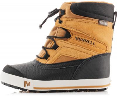 Ботинки утепленные для мальчиков Merrell Snow Bank 2.0Утепленные ботинки для мальчиков merrell snow bank предназначены для зимнего туризма. Верх выполнен из натуральной и синтетической кожи с нейлоновыми вставками.<br>Пол: Мужской; Возраст: Дети; Вид спорта: Зимний туризм; Мембранная ткань: Да; Вес утеплителя: 200 г/м2; Способ застегивания: Быстрая шнуровка; Водоотталкивающая пропитка: Нет; Антибактериальная пропитка: Да; Светоотражающие детали: Нет; Защита мыска: Да; Усиленный бампер: Да; Анатомическая стелька: Да; Съемный внутренний сапожок: Нет; Материал верха: 46 % натуральная кожа, 28 % текстиль, 26 % синтетическая кожа; Материал подкладки: Полиэстер; Материал стельки: Этиленвинилацетат; Материал подошвы: Резина; Технологии: M Select DRY, M Select FRESH, M Select GRIP, M Select WARM; Производитель: Merrell; Артикул производителя: MY56896; Страна производства: Китай; Размер RU: 36;