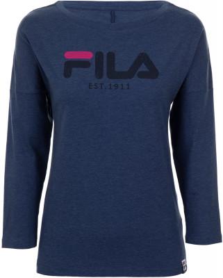 Футболка с длинным рукавом женская Fila, размер 50Футболки<br>Футболка fila отлично впишется в твой спортивный гардероб. Натуральные материалы натуральный воздухопроницаемый хлопок гарантирует комфорт.