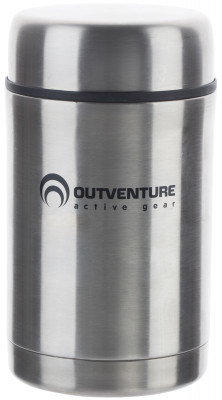 Термос OutventureПосуда<br>Термос для еды из нержавеющей стали объемом 0, 5 л между стенками корпуса находится вакуум, сохраняющий тепло.