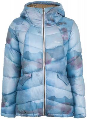 Куртка утепленная женская MerrellУтепленная женская куртка merrell - удачный вариант для путешествий. Технологичный утеплитель синтетический утеплитель m select warm надежно защищает от холода.<br>Пол: Женский; Возраст: Взрослые; Вид спорта: Путешествие; Защита от ветра: Нет; Температурный режим: До -10; Покрой: Приталенный; Светоотражающие элементы: Нет; Дополнительная вентиляция: Нет; Проклеенные швы: Нет; Длина куртки: Короткая; Наличие карманов: Да; Капюшон: Не отстегивается; Количество карманов: 2; Артикулируемые локти: Нет; Застежка: Молния; Технологии: M Select WARM; Производитель: Merrell; Артикул производителя: RJAW03Q144; Страна производства: Китай; Материал верха: 100 % полиэстер; Материал подкладки: 100 % полиэстер; Материал утеплителя: 100 % полиэстер; Размер RU: 44;