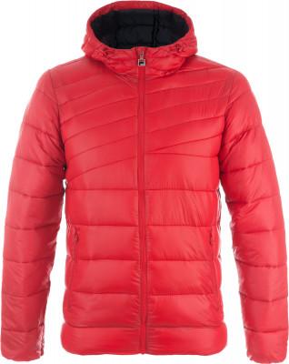 Куртка утепленная мужская FilaУтепленная мужская куртка с капюшоном в спортивном стиле от fila. Комфорт подбородок защищен от соприкосновения с замком молнии.<br>Пол: Мужской; Возраст: Взрослые; Вид спорта: Спортивный стиль; Защита от ветра: Нет; Покрой: Зауженный; Светоотражающие элементы: Нет; Дополнительная вентиляция: Нет; Проклеенные швы: Нет; Длина куртки: Короткая; Наличие карманов: Да; Капюшон: Не отстегивается; Количество карманов: 2; Артикулируемые локти: Нет; Застежка: Молния; Производитель: Fila; Артикул производителя: FLJAM03R2S; Страна производства: Китай; Материал верха: 100 % нейлон; Материал подкладки: 100 % полиэстер; Материал утеплителя: 100 % полиэстер; Размер RU: 46;