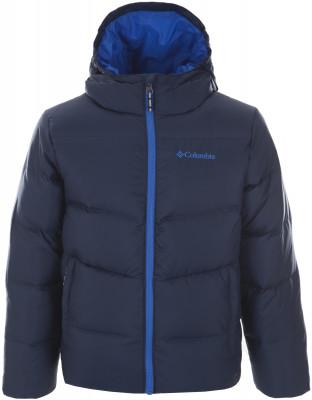 Куртка пуховая для мальчиков Columbia Space Heater II, размер 125-135Пуховики<br>Пуховая куртка для мальчиков columbia space heater ii пригодится юным любителям путешествий и долгих прогулок сохранение тепла натуральный пух в сочетании с технологией omni