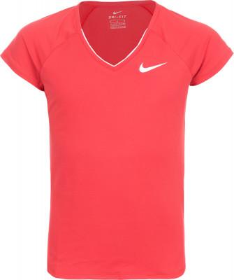Футболка для девочек Nike Pure TennisТеннисная футболка для девочек nike pure tennis. Свобода движений рукава покроя реглан обеспечивают свободу и естественность движений.<br>Пол: Женский; Возраст: Дети; Вид спорта: Теннис; Покрой: Зауженный; Материалы: 88 % полиэстер, 12 % спандекс; Технологии: Nike Dri-FIT; Производитель: Nike; Артикул производителя: 832334-653; Страна производства: Вьетнам; Размер RU: 140-152;