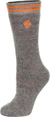 Носки Columbia, 1 параТеплые носки columbia для путешествий в холодную погоду. В комплекте 1 пара. Сохранение тепла внутренний начес обеспечивает дополнительный комфорт и тепло.<br>Пол: Мужской; Возраст: Взрослые; Вид спорта: Путешествие; Плоские швы: Да; Светоотражающие элементы: Нет; Дополнительная вентиляция: Нет; Компрессионный эффект: Нет; Производитель: Columbia Delta; Артикул производителя: RCS610_1GY1S; Страна производства: Китай; Материалы: 90 % акрил, 8 % полиэстер, 1 % нейлон, 1 % спандекс; Размер RU: 35-38;