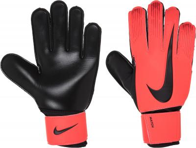 Перчатки вратарские Nike Match Goalkeeper, размер 9Перчатки<br>Футбольные перчатки nike match goalkeeper позволяют удержать мяч в любую погоду: пеноматериал на основе латекса гарантирует отличное сцепление, а также смягчает удар.