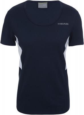 Футболка женская Head Club Tech, размер 44-46Футболки<br>Классическая теннисная футболка от head. Свобода движений эластичный материал ergo stretch и продуманный крой позволяют двигаться максимально естественно.