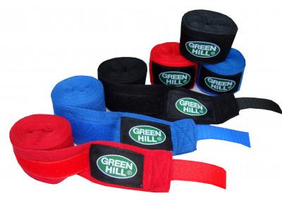Бинт Green Hill, 2,5 м, 2 шт.Высококачественные бинты выполнены из натурального хлопка. Для фиксации бинта на запястье предусмотрена липучка бинты поставляются в комплекте из 2 штук.<br>Состав: хлопок; Вид спорта: Бокс, ММА; Производитель: Green Hill; Артикул производителя: BC-6235; Размер RU: 2,5 м;