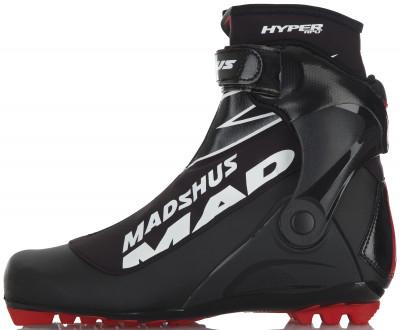 Ботинки для беговых лыж Madshus Hyper RPUУдобные и технологичные лыжные ботинки для классического хода.<br>Назначение: Спорт; Стиль катания: Комбинированный; Уровень подготовки: Продвинутый; Пол: Мужской; Возраст: Взрослые; Система креплений: NNN; Система шнуровки: Закрытая; Технологии: Membrain Softshell, RevoWrap; Производитель: Madshus; Артикул производителя: N174004; Срок гарантии: 1 год; Страна производства: Таиланд; Размер RU: 41; Цвет: Черный;