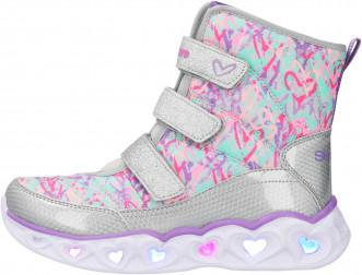 Сапоги утепленные для девочек Skechers Heart Lights-Scribble Hearts