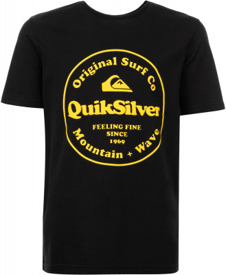 мужская футболка quiksilver, черная