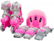 Набор для девочек Re:action: роликовые коньки, шлем, защитная экипировка