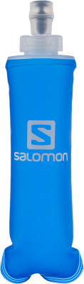 Фляга SalomonМужская одежда<br>Удобная фляга salomon пригодится на пробежке. Модель сжимается при питье, исключая колебания воды, и вода поступает без усилий. Объем: 250 мл.