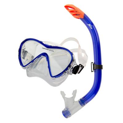 Комплект для плавания JossНабор для подводного плавания, состоящий из маски и трубки. Закаленное стекло и мягкий силикон обеспечат комфортный отдых на воде.<br>Состав: силикон, стекло, пластик; Клапан: нет; Обтюратор: прозрачный; Гофра: нет; Количество линз: 1; Волноотбойник: да; Вид спорта: Подводное плавание; Производитель: Joss; Артикул производителя: M148S-64; Срок гарантии: 2 года; Страна производства: Китай; Размер RU: Без размера;