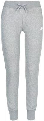 Брюки женские Nike SportswearЖенские брюки nike sportswear позволят создать образ в спортивном стиле. Надежная фиксация эластичный пояс с утягивающим шнурком служит для надежной фиксации брюк.<br>Пол: Женский; Возраст: Взрослые; Вид спорта: Спортивный стиль; Силуэт брюк: Зауженный; Количество карманов: 2; Материал верха: 80 % хлопок, 20 % полиэстер; Производитель: Nike; Артикул производителя: 807800-063; Страна производства: Пакистан; Размер RU: 40-42;