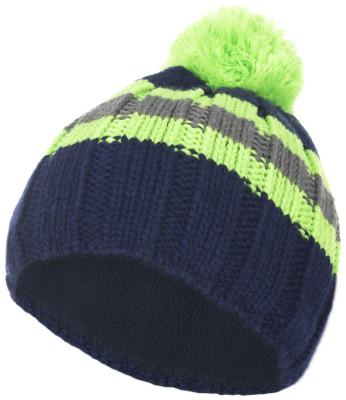 Шапка для мальчиков GlissadeТеплая стильная вязанная шапка для мальчиков 7-12 лет с помпоном. Подкладка-полоска из теплого флиса защищает от ветра и холода.<br>Пол: Мужской; Возраст: Дети; Вид спорта: Горные лыжи; Материал верха: 100 % акрил; Материал подкладки: 100 % полиэстер; Производитель: Glissade; Артикул производителя: SHAB03Z454; Страна производства: Россия; Размер RU: 54-56;