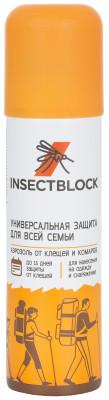 Аэрозоль от клещей и комаров InsectblockСпрей insectblock против насекомых - эффективный репеллент в форме аэрозоля от клещей и комаров. Средство предназначено для распыления на одежду и снаряжение.<br>Состав: Баллончик: 90 % алюминий, 10 % пластик; активное вещество: 0,2% альфациперметрин, 5 % Дэта , 64,22 % спирт этиловый денатурированный или спирт; Производитель: Insectblock; Артикул производителя: EIBOE005D2; Страна производства: Россия; Размер RU: Без размера;