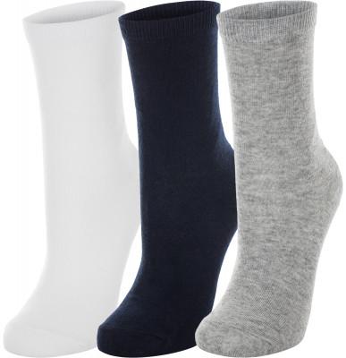 Носки для мальчиков Wilson, 3 парыДетские носки для занятий спортом хорошо пропускают воздух и великолепно сидят на ноге, обеспечивая максимальный комфорт при носке.<br>Пол: Мужской; Возраст: Дети; Вид спорта: Тренинг; Антибактериальный эффект: Нет; Плоские швы: Нет; Светоотражающие элементы: Нет; Дополнительная вентиляция: Нет; Компрессионный эффект: Нет; Анатомический покрой: Нет; Производитель: Wilson; Артикул производителя: W707; Страна производства: Китай; Материалы: 68 % хлопок, 22 % полиэстер, 8 % нейлон, 2 % эластан; Размер RU: 31-34;