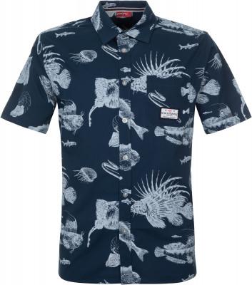 Рубашка мужская Exxtasy Concord, размер 50-52Surf Style <br>Мужская рубашка с морским принтом от exxtasy - превосходный выбор для активного отдыха на пляже. Свобода движений максимальная свобода движений за счет прямого кроя рубашки.