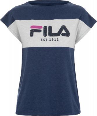 Футболка женская Fila, размер 44Футболки<br>Эффектная и оригинальная футболка fila - идеальное завершение твоего образа. Натуральные материалы натуральный хлопок с небольшим добавлением эластана приятен на ощупь.