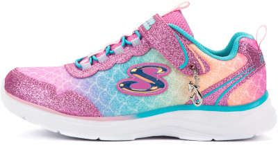 Полуботинки для девочек Skechers Glimmer Kicks-Sea Sparkle, размер 34,5