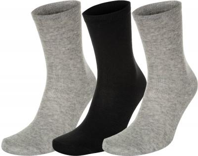 Носки Demix, 3 пары, размер 47-50Носки<br>Спортивные носки demix прекрасно подойдут для тренинга. Благодаря хлопку в составе ткань прекрасно пропускает воздух, обеспечивая хороший микроклимат для ног.