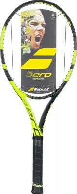 Ракетка для большого тенниса Babolat Pure Aero UnstrungРакетка babolat pure aero unstrung подходит опытным теннисистам, которые ищут максимальную скорость и хотят лучше контролировать каждый удар по мячу.<br>Материал ракетки: Графит; Вес (без струны), грамм: 300; Размер головы: 645 кв.см; Баланс: 320 мм; Длина: 27; Струнная формула: 16х19; Стиль игры: Агрессивный стиль; Технологии: AEROMODULAR, FS, GT; Производитель: Babolat; Артикул производителя: 101304; Срок гарантии: 2 года; Страна производства: Китай; Вид спорта: Большой теннис; Уровень подготовки: Профессионал; Наличие струны: Опционально; Наличие чехла: Опционально; Размер RU: 3;