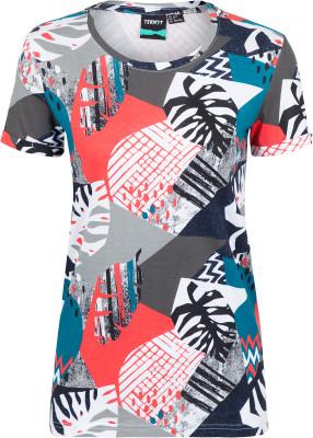 Футболка женская Termit, размер 42Surf Style <br>Футболка для ярких и активных девушек от termit. Свобода движений прямой крой позволяет двигаться свободно. Натуральные материалы ткань выполнена из натурального хлопка.