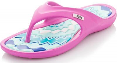 Шлепанцы для девочек Joss MalibuЯркие детские шлепанцы joss malibu - это удобная и легкая обувь для пляжа. Легкость низкий вес обеспечивает комфорт во время ходьбы.<br>Пол: Женский; Возраст: Дети; Вид спорта: Плавание; Материал верха: 100 % этилвинилацетат; Производитель: Joss; Артикул производителя: ARKJ108228; Страна производства: Малайзия; Размер RU: 28;