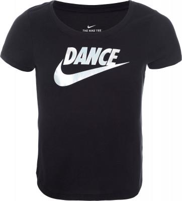 Футболка для девочек Nike, размер 146-156Футболки и майки<br>Отличный выбор для танцев и фитнес-тренировок - детская футболка от nike.