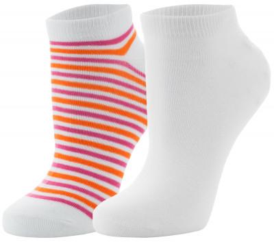 Носки женские Wilson, 2 парыУдобные яркие носки для занятий спортом. Изготовлены из качественных материалов, обеспечивающих максимальный комфорт во время тренировок. В комплекте 2 пары.<br>Пол: Женский; Возраст: Взрослые; Вид спорта: Спортивный стиль; Материалы: 98% полиэстер, 2% эластан; Производитель: Wilson; Артикул производителя: W449-P; Страна производства: Китай; Размер RU: 37-42;