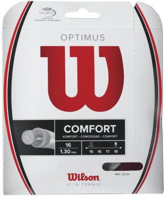 Струна Wilson Optimus 16Струна wilson optimus 16 поддерживает максимальное натяжения при продолжительной игре.<br>Материалы: Ко-полимер; Вид спорта: Большой теннис; Производитель: Wilson; Артикул производителя: WRZ947700; Страна производства: Япония; Размер RU: Без размера;