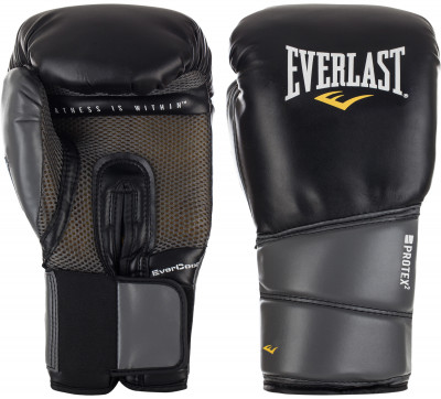 Перчатки тренировочные Everlast Protex2 Gel PUПрочные боксерские перчатки со специальным пенным уплотнителем предназначены для тренировок. Идеально подойдут для работы в спарринге.<br>Вес, кг: 12 oz; Тип фиксации: Липучка; Материал верха: Искусственная кожа; Вид спорта: Бокс; Технологии: EverDri, EverGEL; Производитель: Everlast; Артикул производителя: 3112GLLXLU; Срок гарантии: 14 дней; Страна производства: Китай; Размер RU: 12 oz/L-XL;