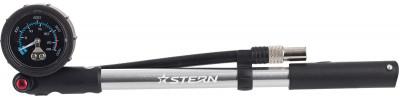 Насос SternВелосипедный насос высокого давления.<br>Максимальное давление: 300 psi / 20 бар; Тип ниппеля: Автомобильный; Материалы: Пластик, алюминий; Вид спорта: Велоспорт; Производитель: Stern; Артикул производителя: CP-HP1.; Длина: 26 см; Страна производства: Тайвань; Размер RU: Без размера;