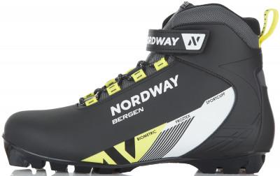 Ботинки для беговых лыж Nordway BergenЛыжные ботинки для классического хода. Верхняя манжета служит для дополнительной фиксации голеностопа.<br>Назначение: Прогулочные; Стиль катания: Комбинированный; Уровень подготовки: Прогрессирующий; Пол: Мужской; Возраст: Взрослые; Система креплений: NNN; Утеплитель: Thinsulate; Система шнуровки: Открытая; Технологии: Biometric, Froztex, Sport Cuff, Thinsulate; Производитель: Nordway; Артикул производителя: DXB0036141; Срок гарантии: 1 год; Страна производства: Россия; Размер RU: 41;