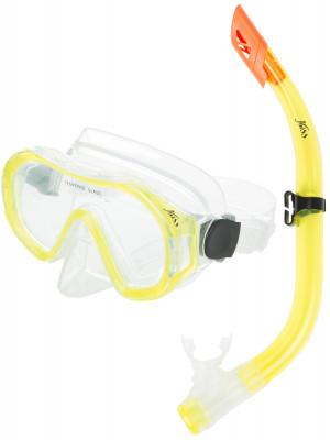 Набор для плавания детский JossДетский набор для подводного плавания, состоящий из маски и трубки.<br>Состав: Силикон, стекло, пластик; Количество линз: 1; Волноотбойник: Есть; Вид спорта: Подводное плавание; Производитель: Joss; Артикул производителя: M9620S-34; Срок гарантии: 2 года; Страна производства: Китай; Размер RU: Без размера;