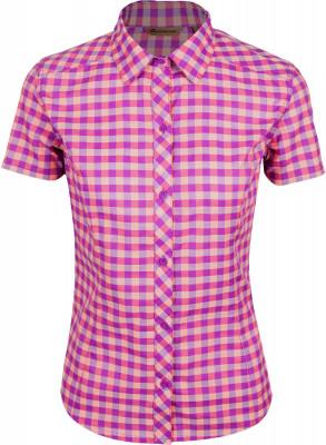 Рубашка женская Outventure, размер 54Рубашки<br>Женская рубашка с коротким рукавом непременно пригодится в путешествии. Натуральные материалы модель выполнена из мягкого воздухопроницаемого хлопка.