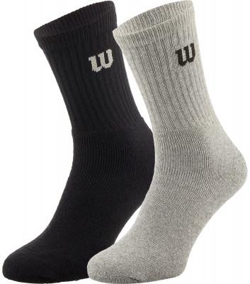 Носки мужские Wilson, 2 парыНоски wilson, выполненные из сочетания хлопка и полиэстера, хорошо сидят на ноге и обеспечивают максимальный комфорт во время носки. Качественный материал устойчив к износу.<br>Пол: Мужской; Возраст: Взрослые; Вид спорта: Спортивный стиль; Материалы: 64 % хлопок, 35 % полиэстер, 1 % эластан; Производитель: Wilson; Артикул производителя: W238-A; Страна производства: Португалия; Размер RU: 43-46;