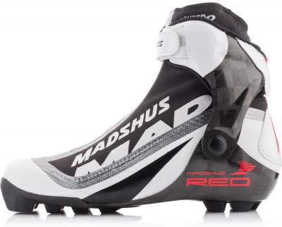 Ботинки для беговых лыж Madshus Super nano skateГоночные ботинки для конькового хода с водонепроницаемой мембраной и карбоновой колодкой для эффективной передачи энергии.<br>Сезон: 2016/2017; Назначение: Гоночные; Стиль катания: Коньковый; Уровень подготовки: Эксперт; Пол: Мужской; Возраст: Взрослые; Вид спорта: Беговые лыжи; Система креплений: NNN; Система шнуровки: Закрытая; Технологии: Integrated Carbon Base, Membrain Softshell, RevoWrap; Производитель: Madshus; Артикул производителя: N164001; Срок гарантии: 1 год; Страна производства: Таиланд; Размер RU: 43,5;